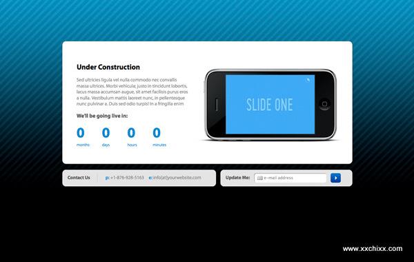 网站正在建设中…提示页面设计集锦